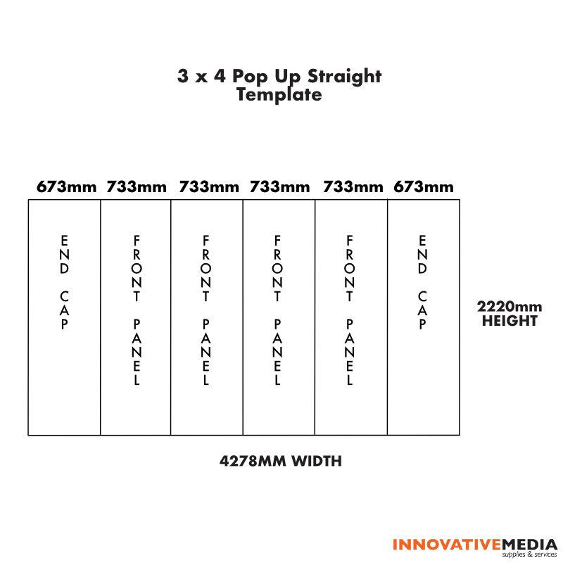 3×4 Straight template