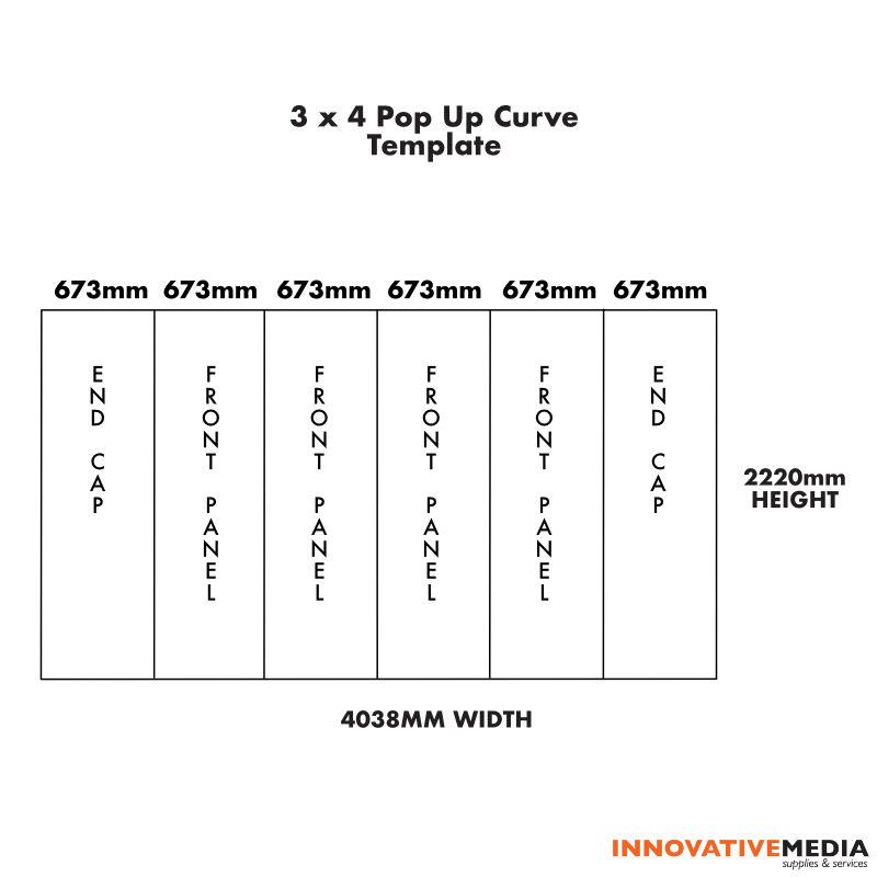 3×4 curve template