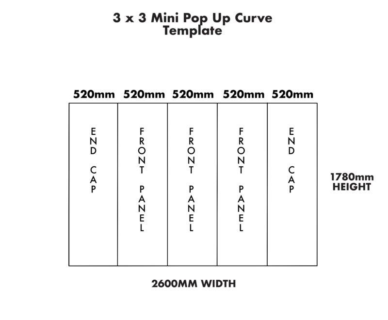 Mini 3×3 Curve Pop Up