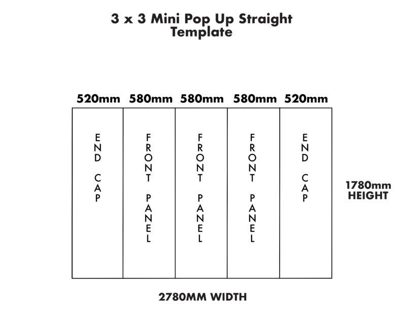 Mini 3×3 Straight Pop Up