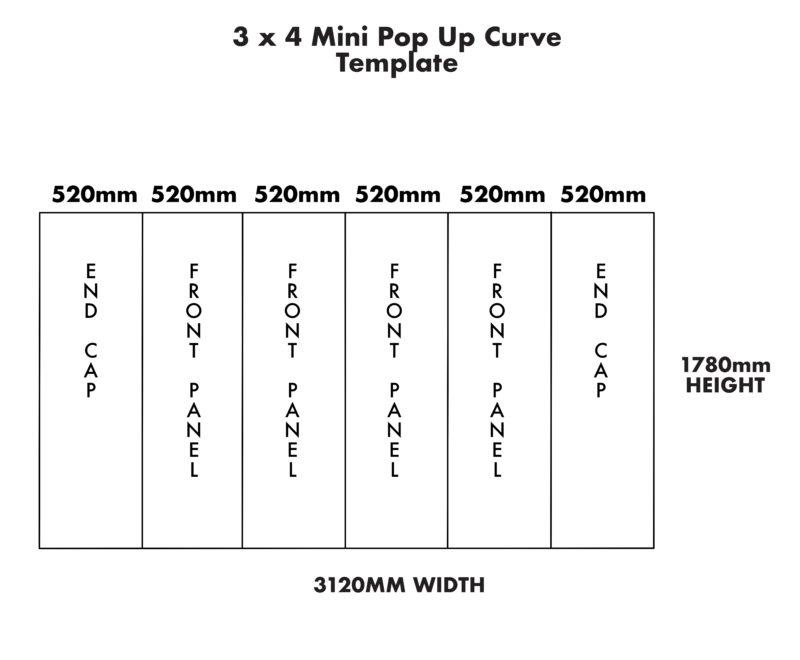Mini 3×4 Curve Pop Up