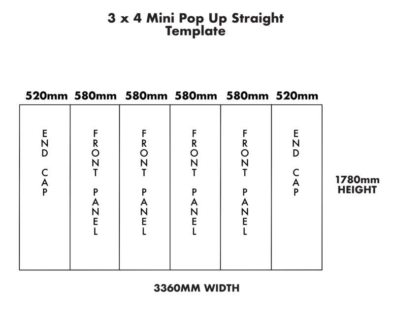 Mini 3×4 Straight Pop Up